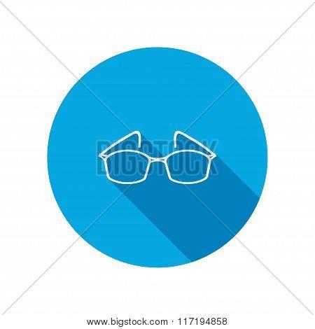 Eye glasses. Optical glass appliance for vision.