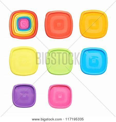 Food container's plastic cap isolated