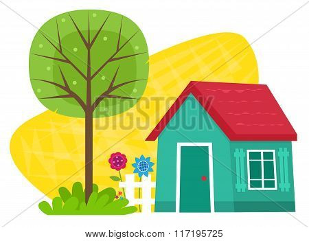 Small House With Tree