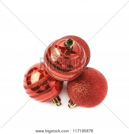 Pile of decorational Christmas balls