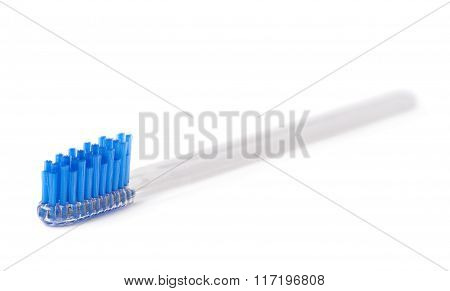 Brand new plastic toothbrush isolated