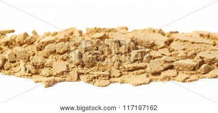 Line of ginger powder isolated