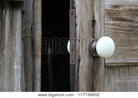 A barn door open
