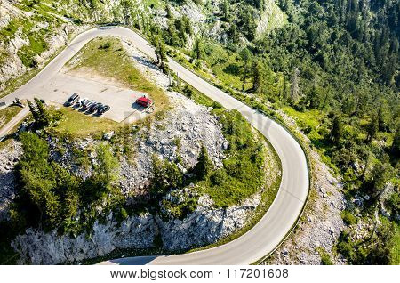 Route In Alps