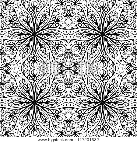 Ethnic Decorative Ornamental Seamless Pattern
