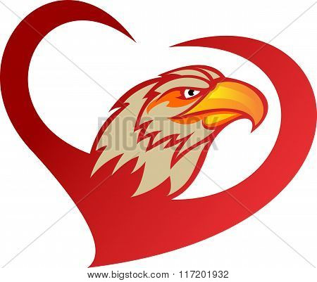 stock logo heart of eagle