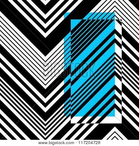 Vector ZigZag Pattern. Abstract Card Background