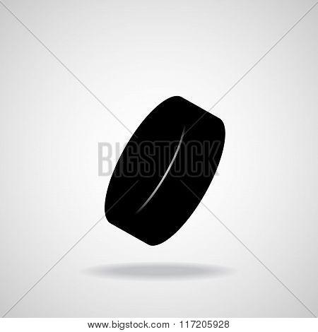 Hockey Puck. Vector