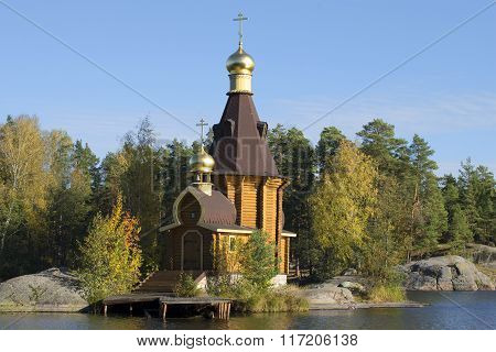 The Church of the Apostle Andrew on Vuoksa. Priozersky district, Leningrad region