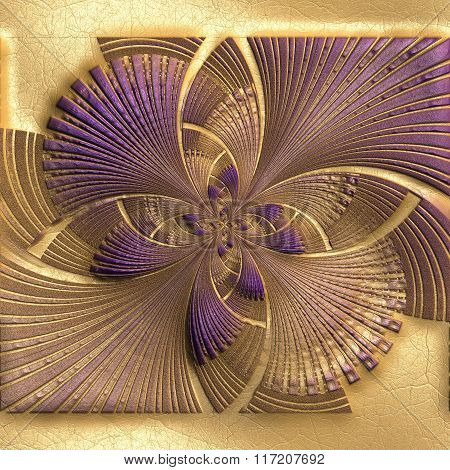 Background With Embossed Butterfly fractal