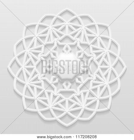 Decorative flower decorative snowflake mandala embossed pattern arabic ornamentindian ornament 2016