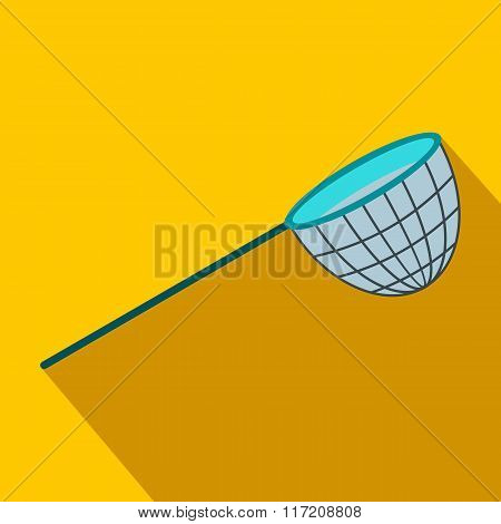 Fishing net flat icon