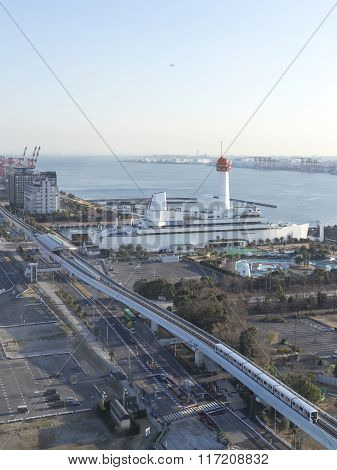 Top View Of Tokyo Bay From Odaiba
