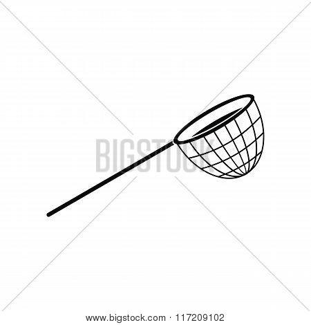 Fishing net black simple icon
