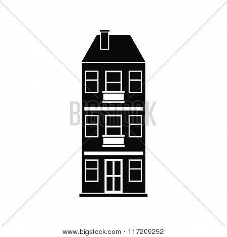 Three-storey house icon