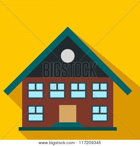 Two-storey house flat icon