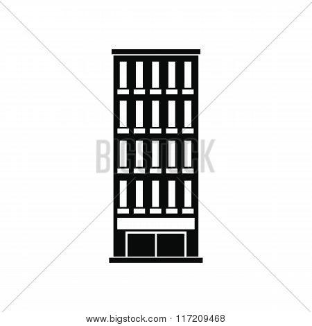 Modern building black simple icon