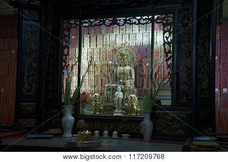 Memorial hall of the jade Emperor pagoda. Ho Chi Minh City