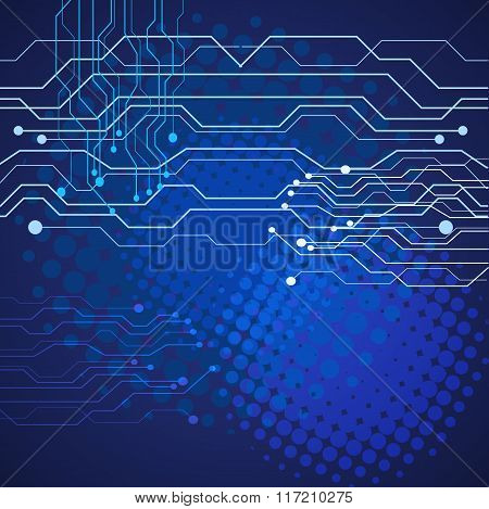 Abstract Technology Blue  Background Vector Illustration Eps 10