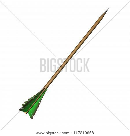 Arrow With Green Feathers