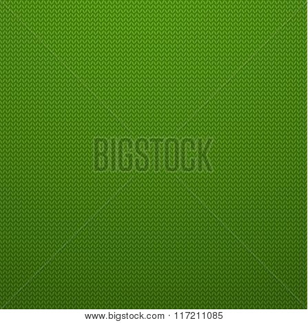 Knitted Style Green Seamless Pattern. Vector EPS10 Seamless Patt