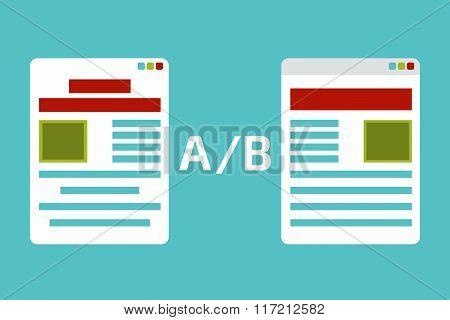 A-B comparison. Split testing
