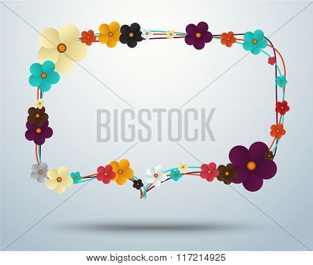Floral Frame, Floral Elegance Frames And Holiday Symbols. Vector Stock.