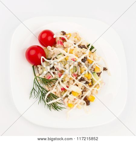 Crab Salad On The Dish