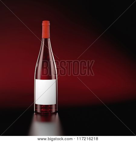 Closed Red Wine Bottle.
