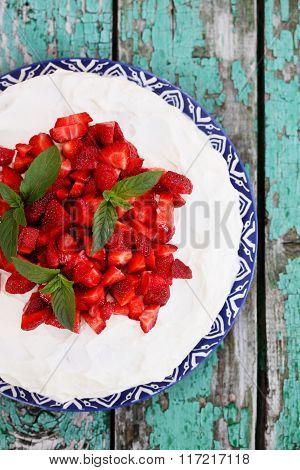 spring dessert with strawberries