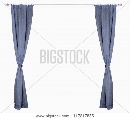 Horizontal Blue Curtains