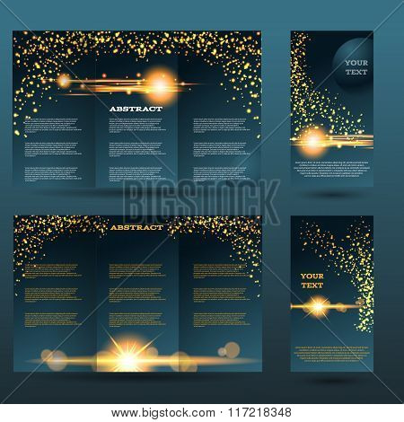 Light Design Templates Collection For Banners, Flyers, Placards And Posters. Bokeh Light Design. Vec