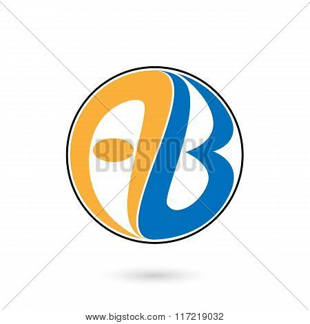 Creative Alphabet A And B Letter Logo.ab Company Group Linked Letter Logo