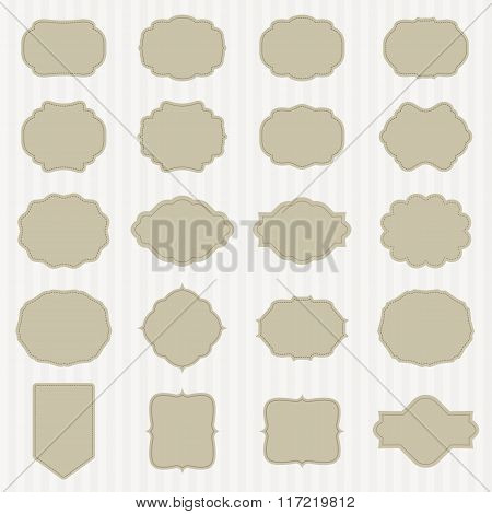 art set of vector vintage frame lable. template for retro design. vector