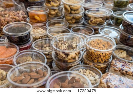 Market Stand With Nuts