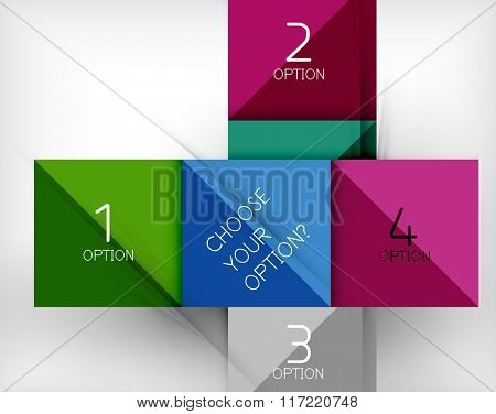 Vector square abstract background