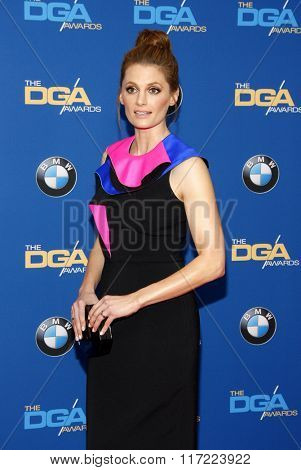 Stana Katic at the 68th Annual Directors Guild Of America Awards held at the Hyatt Regency Century Plaza in Los Angeles, USA on February 6, 2016.