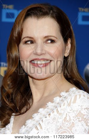 Geena Davis at the 68th Annual Directors Guild Of America Awards held at the Hyatt Regency Century Plaza in Los Angeles, USA on February 6, 2016.
