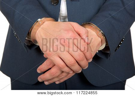 Handcuffd Businessman