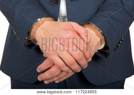 Handcuffd Businessman