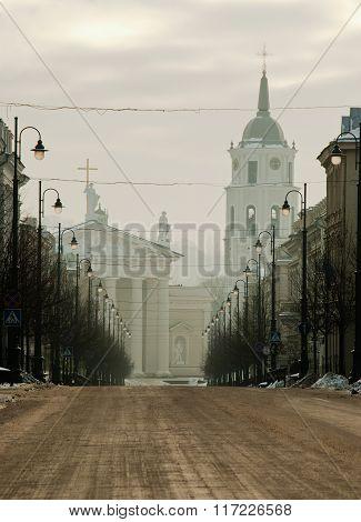 Winter morning in Vilnius