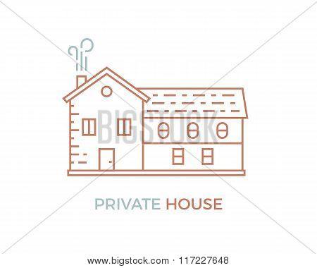 Line House Illustration