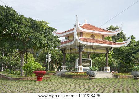 Gazebo-pagoda in the the Pantheon of Ho Chi Minh. Vung Tau, Vietnam