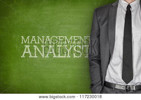 Management analyst on blackboard