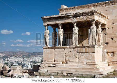The Doric temple Parthenon at Acropolis