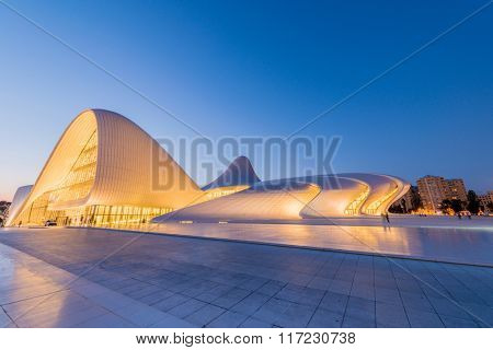 BAKU- JULY 20: Heydar Aliyev Center on July 20, 2015 in Baku, Az