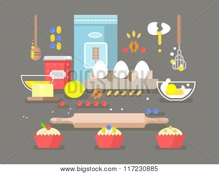 Preparation of baking ingredients