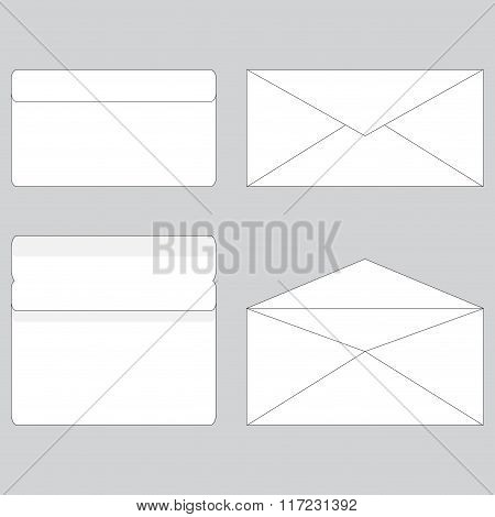 Envelope Paper For Letter Open And Close