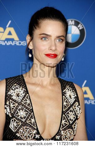 Amanda Peet at the 68th Annual Directors Guild Of America Awards held at the Hyatt Regency Century Plaza in Los Angeles, USA on February 6, 2016.
