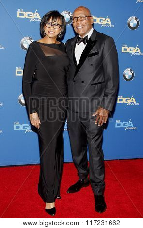 Paris Barclay and Cheryl Boone Isaacs at the 68th Annual Directors Guild Of America Awards held at the Hyatt Regency Century Plaza in Los Angeles, USA on February 6, 2016.